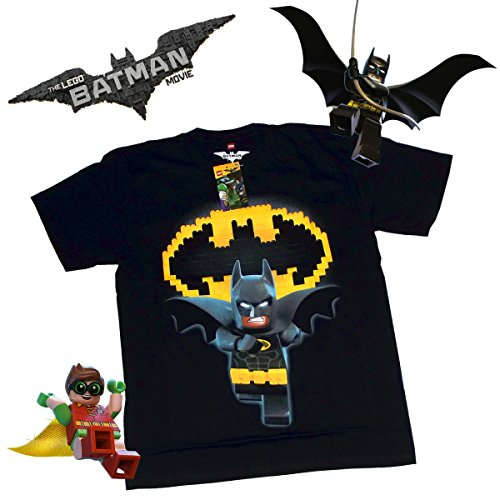 Lego DC Comics The Batman Movie Superheroes Symbol Youth Kids Children Short Sleeve Tee T Shirt (Small, Batman (Catwoman From The Dark Knight Rises)