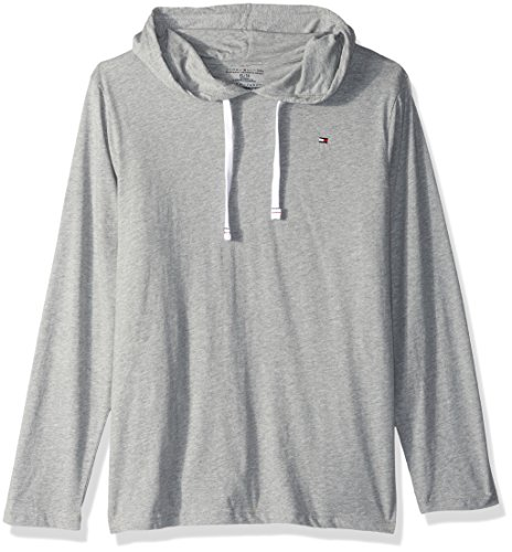 02948508 Tommy Hilfiger Men's Cotton Classics Pullover Hoodie, Grey Heather, X-Large