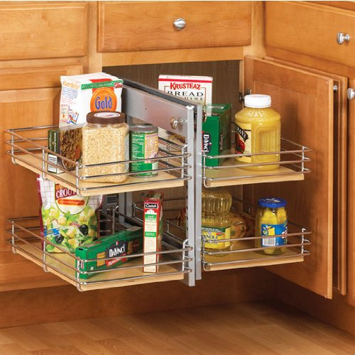 Corner Base Cabinet (Real Solutions/ Knape & Vogt 26.75 in. x 26.1875 in. x 22.19 in. Right Hand Slide Out Base Blind Corner Unit)