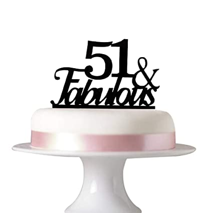 Amazon 51 Fabulous Cake Topper For 51st Birthday Party
