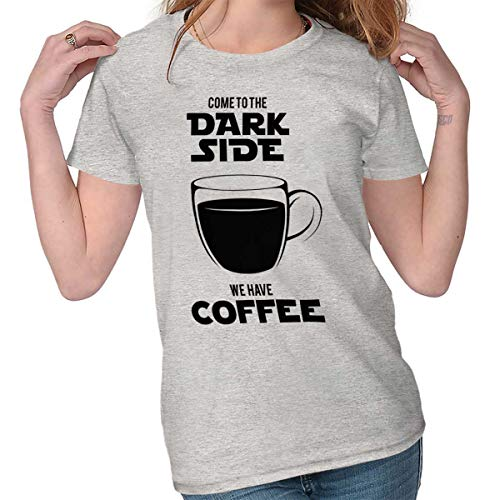 Dark Side Has Coffee Funny Space Nerd Gift Ladies T Shirt