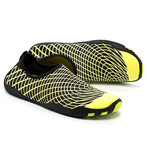 Séchage Chaussure d'eau Jaune Antidérapance Rapide Sport Chausson Jixin4you Respirant 1xnvWpAAq