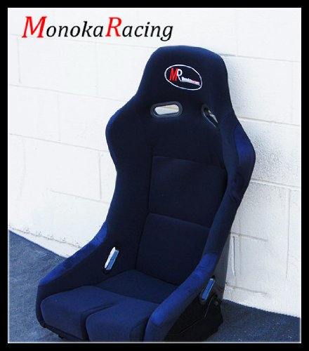 Brand New Black Clothing MonokaRacing MR Spec-E Pro Model Auto Sport Car Light Weight Black FPR Shell Bucket Sliding JDM Style Racing Seat With Gradient Cushion (Large - Model New Frames Specs