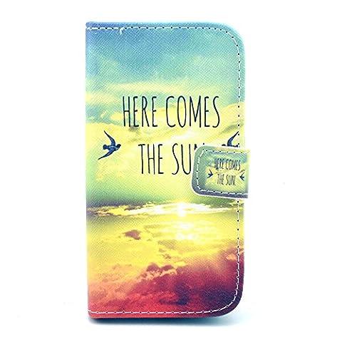 Galaxy Avant Case,IVY [Kickstand Flip Case] Galaxy Avant G386 Wallet Case [Sunrise] Premium Soft TPU Synthetic Leather Flip Cover [Card],Wallet Case for Samsung Galaxy Avant G386T,Samsung Galaxy Core LTE 4G (Samsung Galaxy Core Lte Case G386)