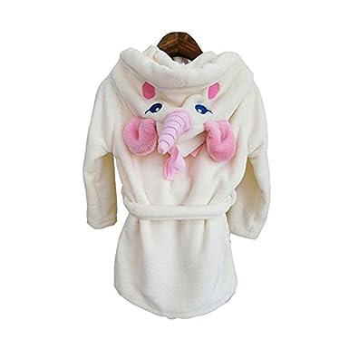 3e95e0b571c38 Colorfulworld Bébé Licorne Peignoir de Bain Mignon Animal Wrap Peignoirs  Enfants à Capuche Robe de Chambre en Flanelle Pyjama pour garçons Filles   ...