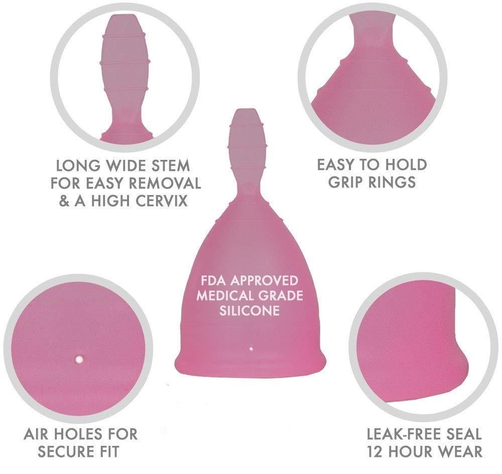 Copa Menstrual Copa de Period Silicona Reutilizable para la Higiene Femenina, Lote de 2 (Púrpura, Talla B): Amazon.es: Salud y cuidado personal