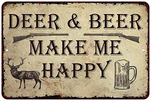 Corner Deer Creek (Chico Creek Signs Deer and Beer, Make me Happy.Funny Man Cave Fishing Metal Sign 8x12 8120008032)