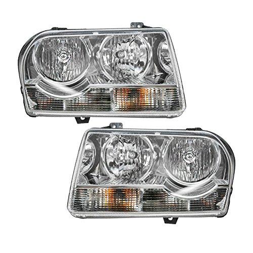 300 Assembly Headlight Chrysler - Headlights Headlamps Left & Right Pair Set for 05-10 Chrysler 300