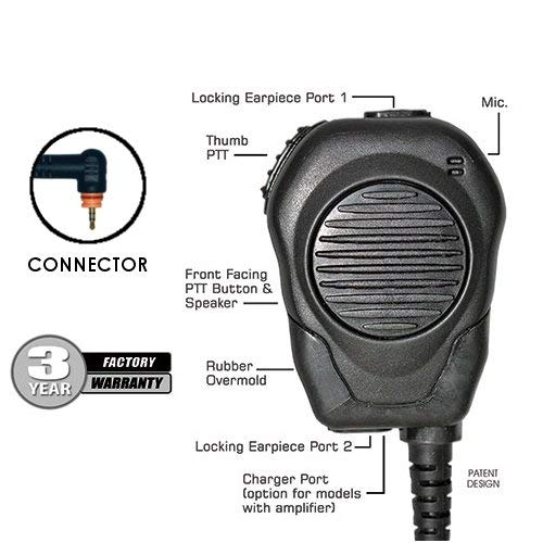 Maxon Two Way - Klein Valor Shoulder Mic for Motorola Wave TLK 100 SL300 SL500 SL3500 SL7550 SL7550e SL7580 SL7580e SL7590 SL7590e and Maxon TPD-8124 TPD-8424 Two-Way Radios Walkie Talkies Handheld Portable