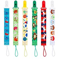Lictin 6pcs 2-Sided Dummy Chains-Pacifier Chains Pacifier Clip Beaded Designs Soother Chains Soother Clip Soother Holder Soother Clip with Baby Name DIY Design Great Gift for Newborn Clip Soother Holder Soother Clip with Baby Name DIY Design Great Gift for Newborn