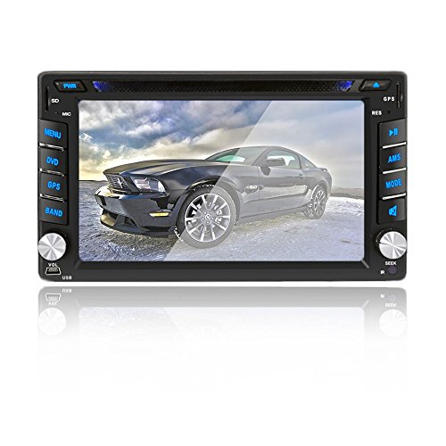 6.2 inch Double DIN Car Stereo In-Dash DVD player GPS Naviga