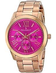 Peugeot Womens 7095PK Analog Display Japanese Quartz Rose Gold Watch