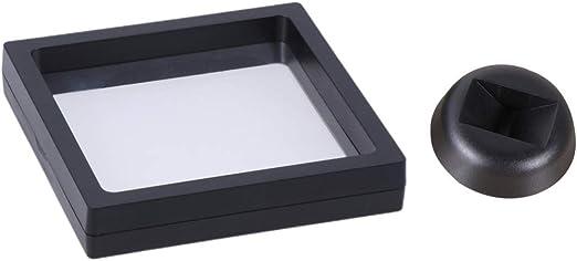 VOSAREA Marco de exhibición Flotante de plástico Marco de exhibición de Moneda de Medalla Caja de Sombra de exhibición de joyería 3D para Tienda en el hogar: Amazon.es: Hogar