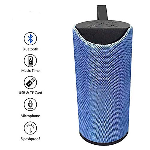 Specsybear Bluetooth Portable Stereo Speaker with Rich Bass | Loud Sound | Built-in Mic for All Smartphone Device (Blue)