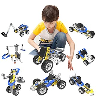 ZAYOR Stem Building Toys 5 in 1 Learning Toy Kit Educational Construction Building Blocks Set for Boys and Girls As Best Birthday Toy Gifts Stem Activities for Kids Ages 5 6 7 8 9 10+(115pcs)