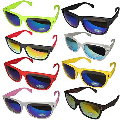 con Gafas OUTLETISSIMO Ibiza Espejo Transparente Wayfarer Pacha Disco Unisex de New Lentes London Fucsia Sol de Barras pwfdxq6w