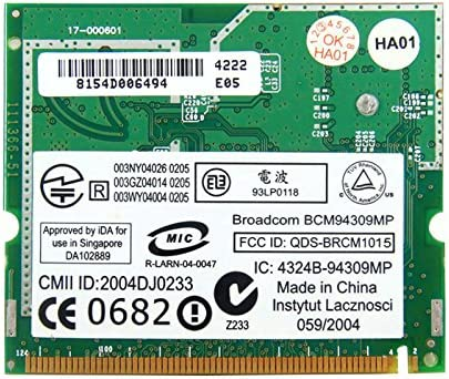 Amazon.com: Broadcom bcm4309 bcm94309mp dw1450 tarjeta mini ...
