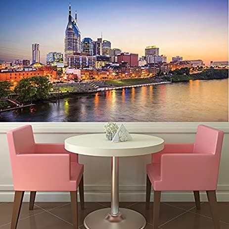 Amazon.com: Nashville Sunset Wall Mural City Skyline Photo Wallpaper ...