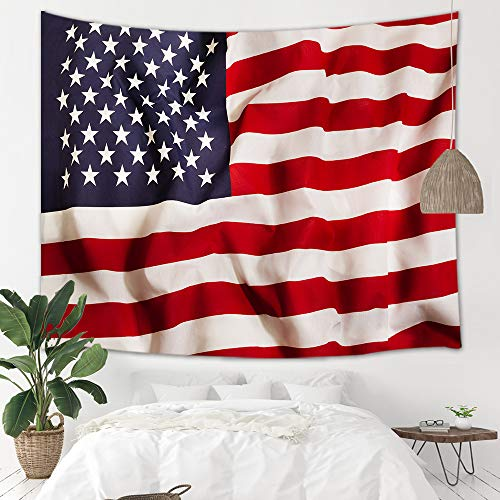 NYMB United States Stripe Flag Tapestry Wall Hanging, Vintage American Flag for Independence Day Wall Blanket Art for Home Backdrop Study Dorm Decor Living Room Bedroom Bedspread, 60
