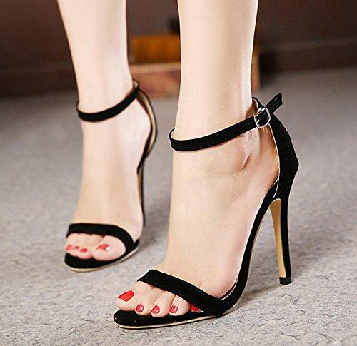 ZHUDJ Eine Schnalle Schuhe_Sommer Sandalen Toed Stiletto Wort Schnalle Tide Thirty-five