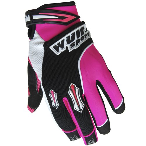 Wulfsport Motocross MX Stratos Adult Gloves Medium 9cm, Pink