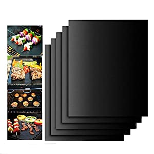 Reuseable Black BBQ Grill Mat Barbecue Non-stick Baking Liner Cooking Sheet 30cmx40cm