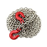 RC Rock Crawler Accessories Chain - SODIAL(R)Racing 1:10 RC Car Rock Crawler Accessory 85cm Long Chain Hook Red + Silver