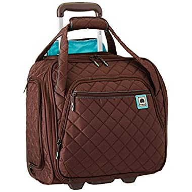 Delsey Quilted Rolling UnderSeat Tote- EXCLUSIVE (Brown)