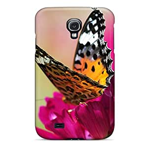 LavernaCooney Samsung Galaxy S4 Shock Absorbent Hard Phone Cover Allow Personal Design Realistic Butterfly Series [zbS12542uEkO]