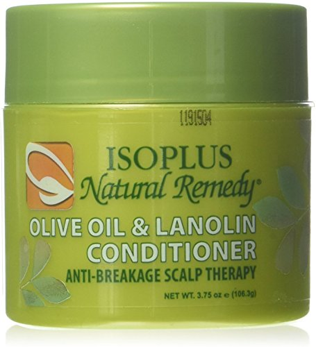 Isoplus Natural Remedy Olive Oil & Lanolin Contitioner, 4 oz (Pack of 4)