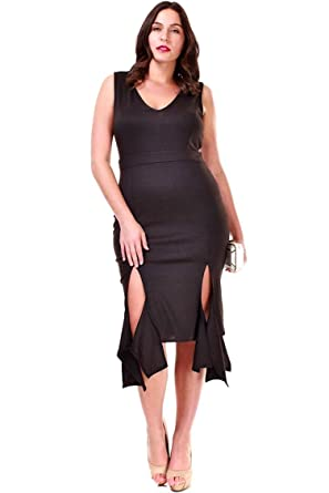 e9c3debd2e53 Nyteez Women's Plus Size Sleeveless Party Salsa Dress at Amazon ...