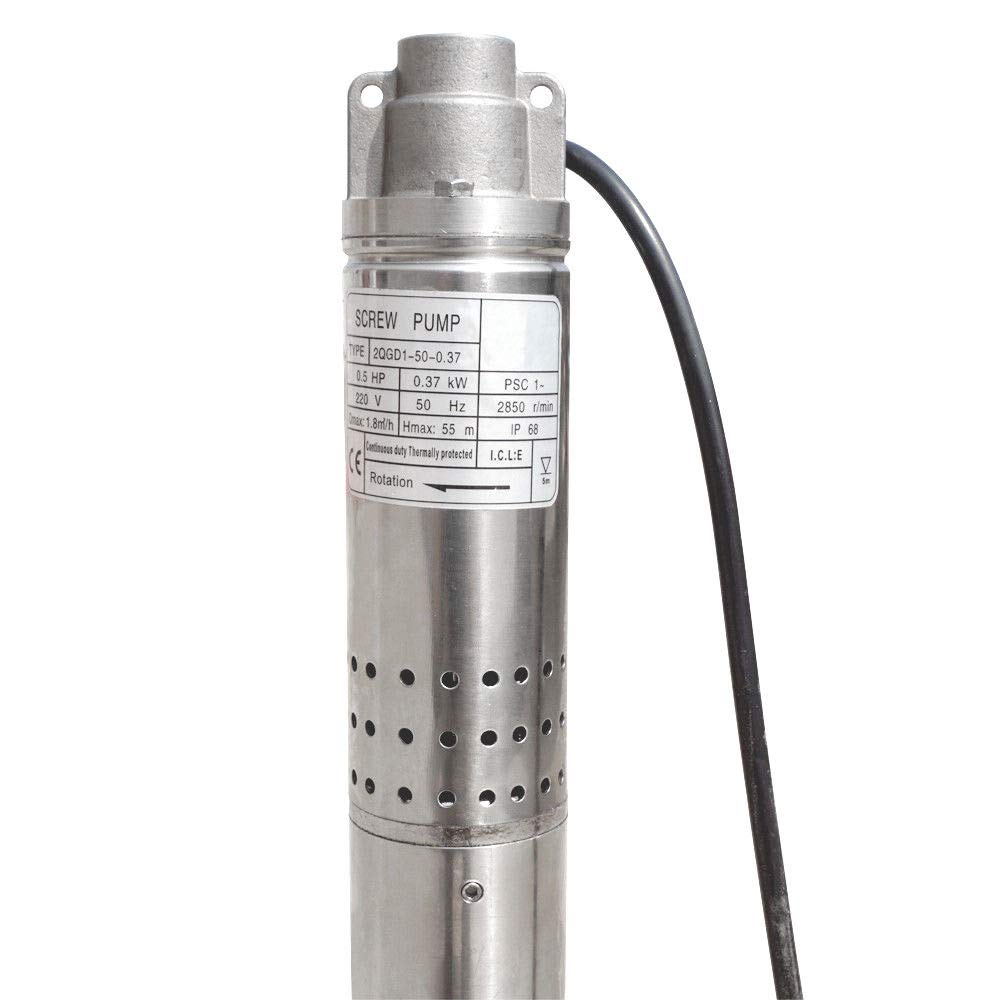 ECO LLC 240V 1/2 HP Stainless Steel 2'' Submersible Bore Pump Deep Well Pump for Farm Irrigation by ECO LLC (Image #5)