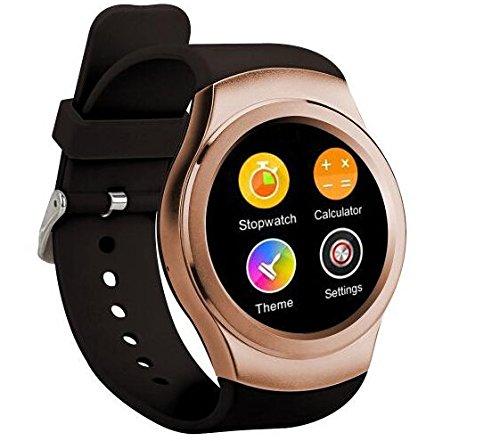 G3 GSM Watch Phone Smart Watch Bluetooth Watch MT2502 1.3 inch Heart Rate Data Sync Golden