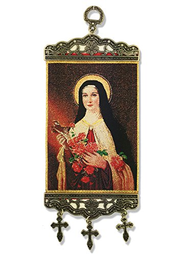 St Saint Therese of The Child Jesus Tapestry Icon Banner 9 3/4 Inch by Religious Gifts