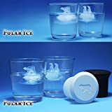 Image of Fivebop Silicone Polar Ice Cube Molds, Penguin and Ice Polar Bear Shaped Trays