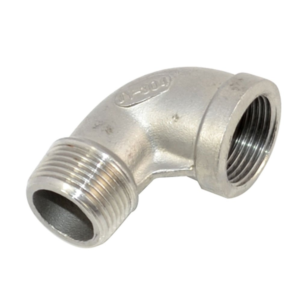 SuperWhole 1//2Female x 1//2Male street Elbow Threaded Pipe Fitting Stainless Steel 304 NPT