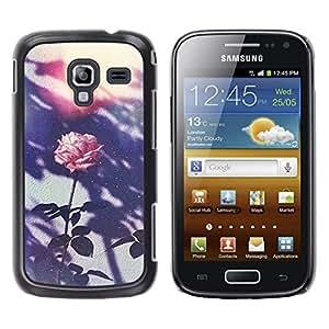 Be Good Phone Accessory // Dura Cáscara cubierta Protectora Caso Carcasa Funda de Protección para Samsung Galaxy Ace 2 I8160 Ace II X S7560M // Retro Photo Pink Flower