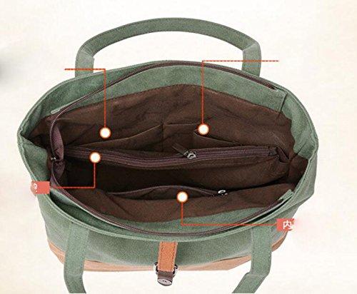Lienzo De Costura Bolso De Hombro Simple Bolso De Hombro Casual Bolsa De Viaje Simple Retro Blue