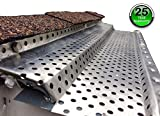 (200 feet) Shur Flo Step-Down Leaf Guard Gutter Protector for 5'' K-Style Gutters. Mill Finish Aluminum. 50 panels x 4.00' each.