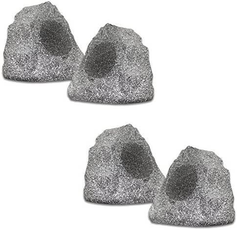 (set of 4) of New Outdoor Garden Waterproof Granite Rock Patio Speakers 4R4G