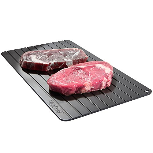 VonShef Magical Defrosting Tray - Thaw Frozen Food in Minutes! No Electricity, No Chemicals, No Microwave ( 35 x 19.7 cm)
