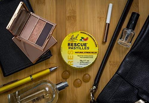 RESCUE PASTILLES, Homeopathic Stress Relief, Natural Orange & Elderflower Flavor – 35 Pastilles 51nOpqukLyL