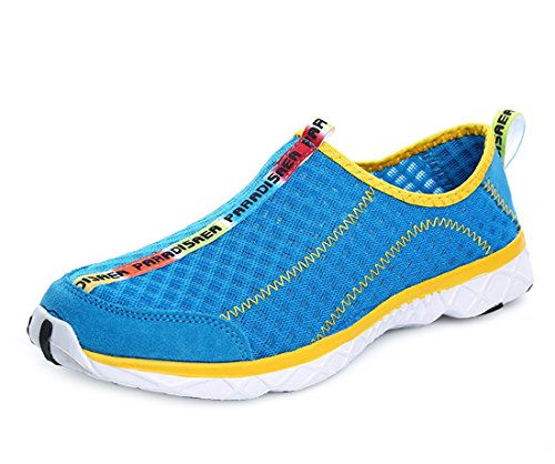 Junior Driving Suits - PAIRLERS Men Water Shoes Quick Dry Lightweight Beach River Surf Outdoor Walking Shoes(Blue/10.5 D(M) US)