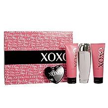 XOXO for Women-4 Pc Gift Set 3.4-Ounce EDP Spray, 3.3-Ounce Satin Body Lotion, 3.3-Ounce Moisturizing Shower Gel, Mirrior