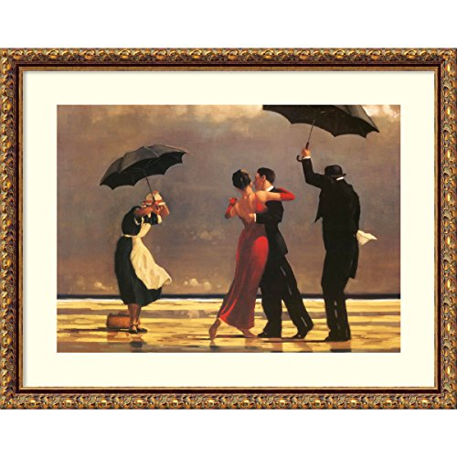 - Framed Art Print 'The Singing Butler' by Jack Vettriano: Outer Size 24 x 19