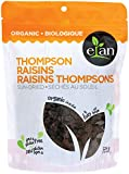 ELAN Organic Sun-Dried Thompson Raisins 225 Gram