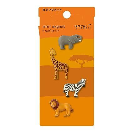 858734946f90 Image Unavailable. Image not available for. Color: Midori Mini Magnet,  Safari Animals ...