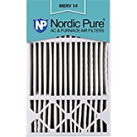 Nordic Pure 16x25x5 (4-3/8 Actual Depth) MERV 14 Honeywell Replacement Pleated AC Furnace Air Filter, Box of 1
