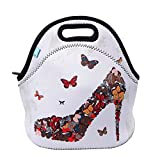Neoprene Lunch Tote, OFEILY Insulated Lunch Bag with animal printed (High heel)