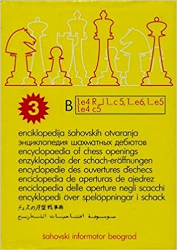Encyclopedia Of Chess Openings B Chess Informant 9788672970326